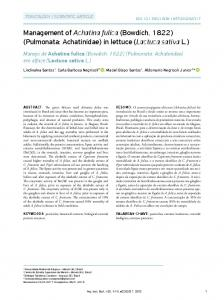 Management of Achatina fulica (Bowdich, 1822) - Scielo.br