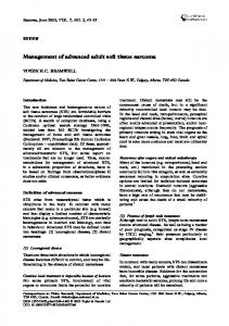 Management of advanced adult soft tissue sarcoma - NCBI