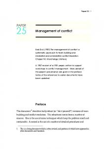 Management of conflict PAPER