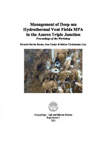 Management of Deep-sea Hydrothermal Vent Fields MPA in the ...