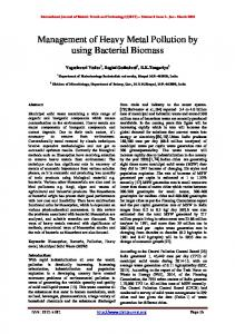 Management of Heavy Metal Pollution by using ...