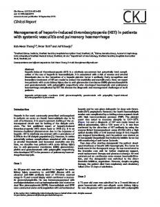 Management of heparin-induced thrombocytopenia ... - Oxford Journals