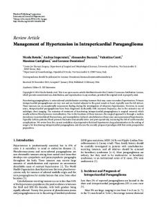 Management of Hypertension in Intrapericardial Paraganglioma