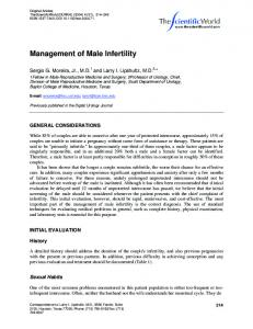 Management of Male Infertility - Hindawi