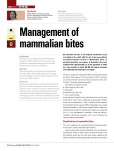 Management of mammalian bites