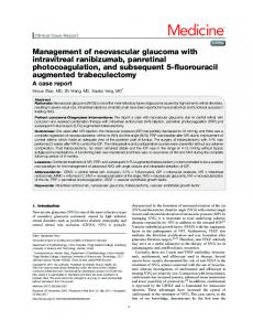 Management of neovascular glaucoma with intravitreal ranibizumab ...