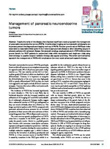 Management of pancreatic neuroendocrine tumors - Future Medicine