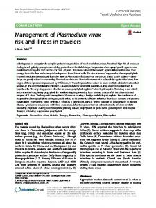 Management of Plasmodium vivax risk and illness