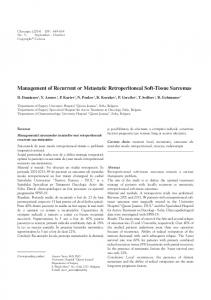 Management of Recurrent or Metastatic Retroperitoneal Soft-Tissue ...