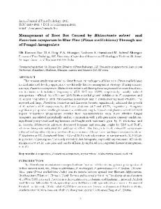 Management of Root Rot Caused by Rhizoctonia solani and Fusarium ...