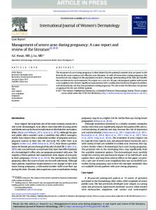 Management of severe acne during pregnancy: A