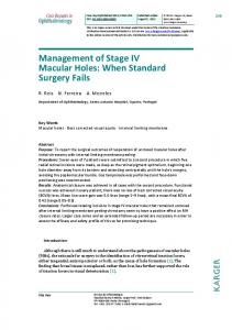 Management of Stage IV Macular Holes: When ... - Karger Publishers