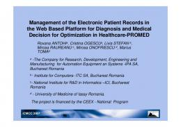 Management of the Electronic Patient Records in the ...