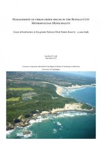 Management of urban green spaces in the Buffalo City Metropolitan ...