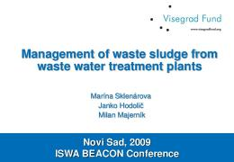 Management of waste sludge from waste water treatment ... - ISWA