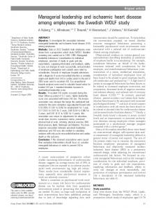 Managerial leadership and ischaemic heart disease ... - BioMedSearch