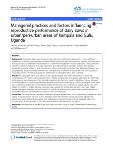 Managerial practices and factors influencing ...