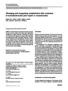 Managing and recognizing complications after