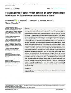 Managing birds of conservation concern on ... - Wiley Online Library