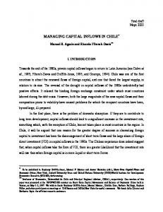 managing capital inflows in chile - Financial Policy Forum