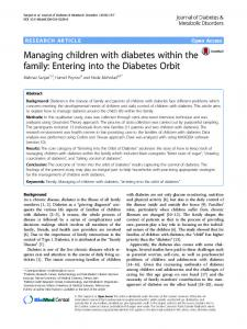 Managing children with diabetes within the family: Entering into the ...