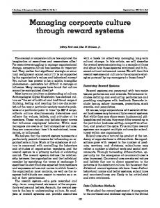 Managing corporate culture through reward systems - Lead More