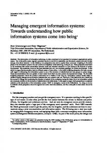 Managing emergent information systems: Towards ... - IOS Press