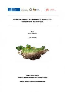Managing Forest Ecosystems in Mongolia - the ...