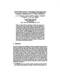 Managing Heterogeneous Compute Resources for a ...