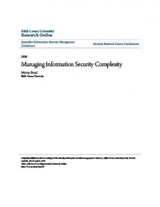 Managing Information Security Complexity - Research Online - Edith ...