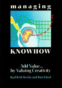 Managing Knowhow - Sveiby Knowledge Associates