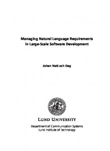 Managing Natural Language Requirements in
