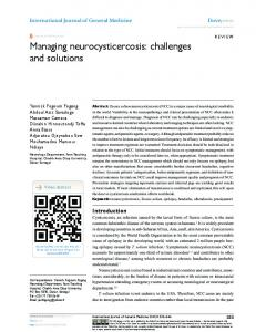 Managing neurocysticercosis: challenges and ... - Semantic Scholar