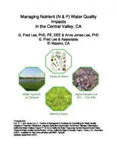 Managing Nutrient (N & P) - G. Fred Lee & Associates