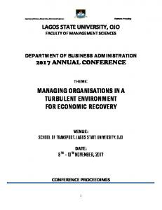 managing organisations in a turbulent environment