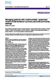 Managing patients with multimorbidity: systematic review of ...