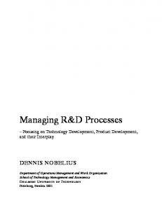 Managing R&D Processes - Chalmers Publication Library
