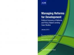 Managing Reforms for Development: Political Economy of Reforms ...