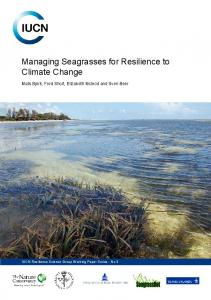 Managing Seagrasses for Resilience to Climate ... - Reef Resilience