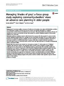 Managing 'shades of grey': a focus group study ... - Semantic Scholar