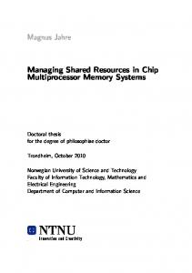 Managing Shared Resources in Chip Multiprocessor ...