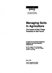 Managing Soils in Agriculture