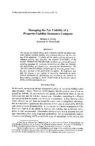 Managing the Tax Liability of a Property-Liability Insurance Company