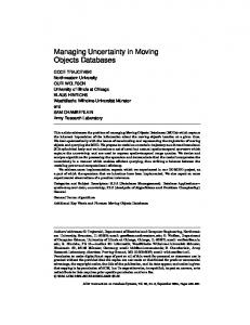 Managing Uncertainty in Moving Objects Databases - Electrical