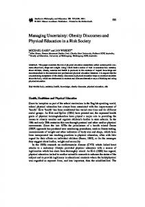 Managing Uncertainty: Obesity Discourses and ... - Springer Link