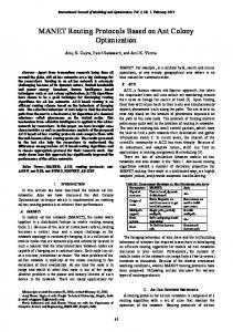 MANET Routing Protocols Based on Ant Colony ... - Semantic Scholar
