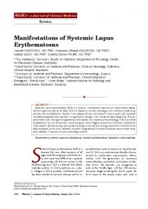 Manifestations of Systemic Lupus Erythematosus