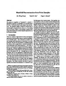 Manifold Reconstruction from Point Samples - The Ohio State University