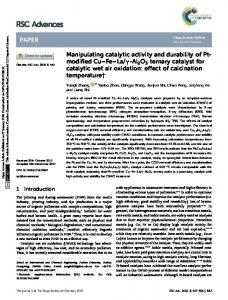 Manipulating catalytic activity and durability of Pt ...