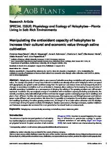 Manipulating the antioxidant capacity of ... | Semantic Scholar